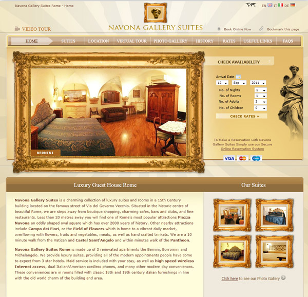 Ideas and examples to make a website for a hotel for Hotel web design
