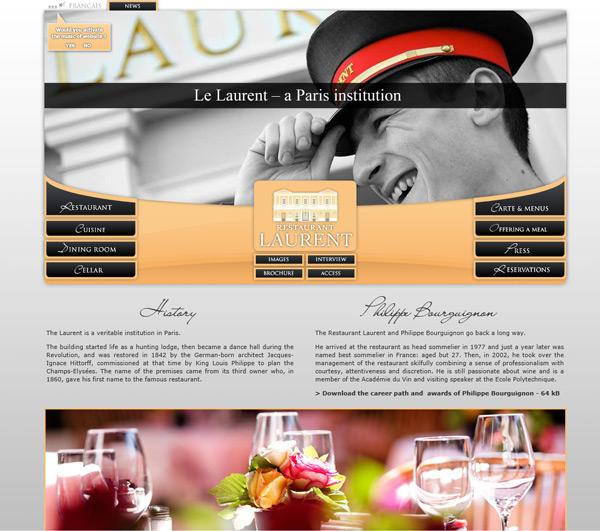 Beautiful Restaurant Website Design Ideas Pictures - Home Design ...
