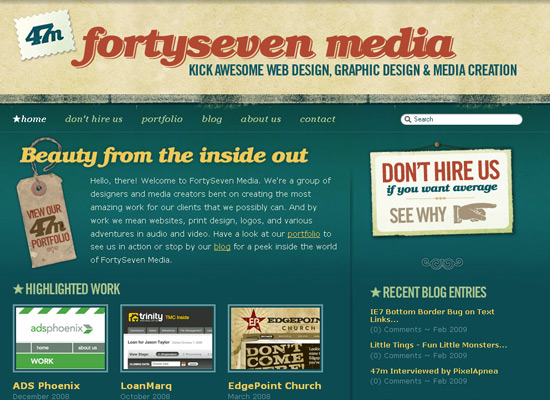 ideas for designing a web page with antique and retro web design