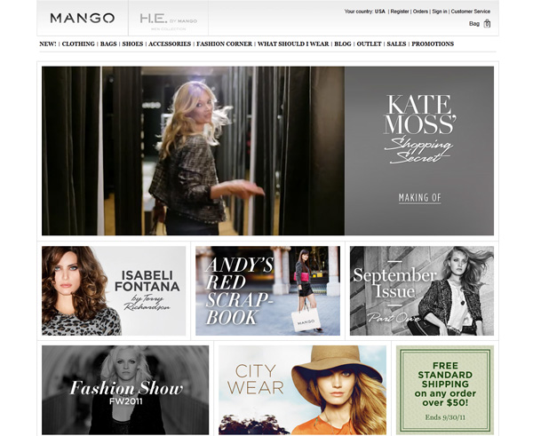 Blogs Suggestions and Womenswear Sites Most Played