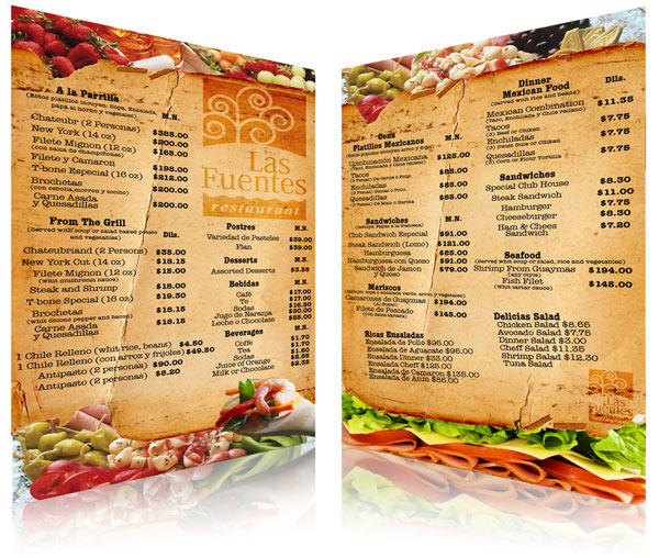 Ideas to make a restaurant menu design and