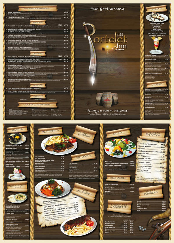 ideas and examples to make to do a restaurant menu design and restaurant menus ideas - Great Website Design Ideas