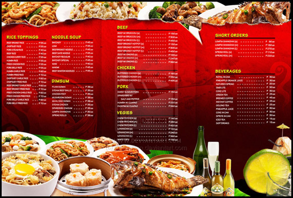 Panorama Restaurant  Menus