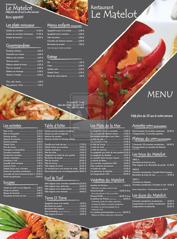 Ideas to make a restaurant menu design and restaurant menus layout