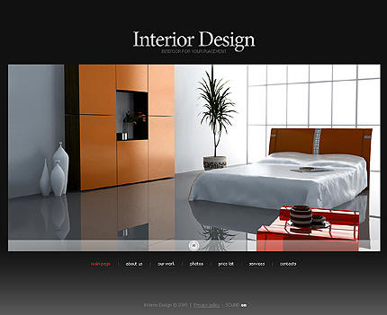 Ideas And Examples For Web Design Fashion Interior Home