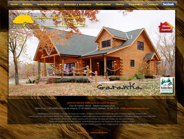 Casa de madera natural web design work web page layout for Shop on line casa